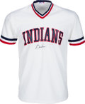 Baseball Collectibles:Uniforms, 1980's Bill Veeck Signed Cleveland Indians Jersey. ...