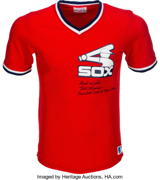 1980 s Ted Lyons Signed Chicago White Sox Jersey.... Baseball  ca013a8de4c