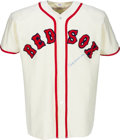 Baseball Collectibles:Uniforms, 1990s Billy Herman Signed Boston Red Sox Jersey. ...