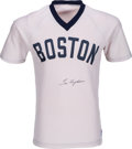 Baseball Collectibles:Uniforms, 1980's Tex Hughson Signed Boston Red Sox Jersey. ...