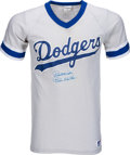 Baseball Collectibles:Uniforms, 1980's Rube Walker Signed Los Angeles Dodgers Jersey....