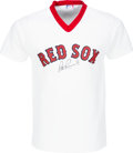 Baseball Collectibles:Uniforms, 1980's Pete Runnels Signed Boston Red Sox Jersey. ...