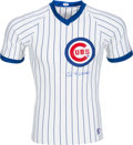 Baseball Collectibles:Tickets, 1980's Leo Durocher Signed Chicago Cubs Jersey. ...