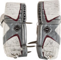 Hockey Collectibles:Equipment, 2001 Patrick Roy 500th Victory Game Worn Colorado Avalanche Pads....