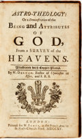 Books:Religion & Theology, W[illiam] Derham. Astro-Theology: or a Demonstration of the Being and Attributes of God, from a Survey of the Heavens. ...