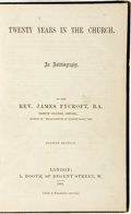 Books:Biography & Memoir, James Pycroft. Twenty Years in the Church. An Autobiography.London: L. Booth, 1861. . ...