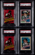 Baseball Cards:Unopened Packs/Display Boxes, 1978 Topps Baseball PSA Graded Unopened Pack Collection (4)....