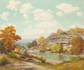 Texas:Early Texas Art - Impressionists, Walton Leader (American, 1877-1966). Bluff on the Lerock.Oil on canvas. 30 x 36 inches (76.2 x 91.4 cm). Signed lower r...
