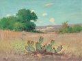Texas:Early Texas Art - Impressionists, Robert William Wood (American, 1889-1979). Flowering Cactus.Oil on canvas. 18 x 24 inches (45.7 x 61.0 cm). Signed lowe...