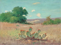 Robert William Wood (American, 1889-1979) Flowering Cactus Oil on canvas 18 x 24 inches (45.7 x 6