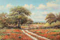 Texas:Early Texas Art - Impressionists, William Robert Thrasher (American, 1908-1997). IndianPaintbrush . Oil on canvas. 24 x 36 inches (61.0 x 91.4 cm).Signe...
