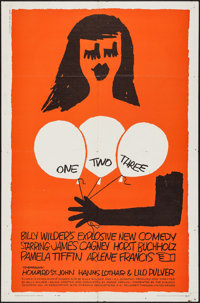 """One, Two, Three (United Artists, 1962). One Sheet (27"""" X 41""""). Comedy"""
