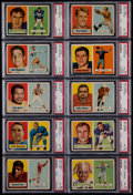 Football Cards:Lots, 1957 Topps Football PSA Graded Card Collection (10)....