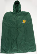 Football Collectibles:Uniforms, 1970's Green Bay Packers Game Worn Sideline Cape. ...