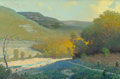 Texas:Early Texas Art - Impressionists, Jerry Ruthven (American, b. 1947). Hill Country Ravine. Oilon canvas. 24 x 36 inches (61.0 x 91.4 cm). Signed and dated...