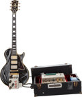 Musical Instruments:Electric Guitars, Danny Gatton's 1961 Gibson Les Paul Custom Black Solid Body Electric Guitar and Magic Dingus Control Box, Serial # 1 1071.... (Total: 3 Items)