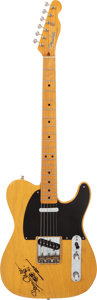 Musical Instruments:Electric Guitars, Steve Cropper Owned, Played and Signed 1982 Fender '52 USA Re-issueTelecaster Butterscotch Blonde Solid Body Electric Guitar,...