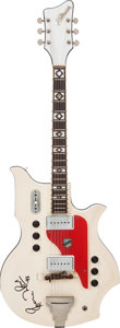 Musical Instruments:Electric Guitars, Ron Wood Played and Signed 1960's National Valpro White Solid BodyElectric Guitar, Serial # T71732....