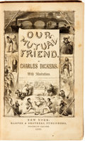 Books:Literature Pre-1900, Charles Dickens. Our Mutual Friend. New York: Harper & Brothers, 1865....
