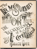 Books:Americana & American History, Horace Cope. The Rev. Mr. Sourball's European Tour, or TheRecreations of a City Parson. [Duffield Ashmead, 1867...