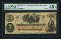 Confederate Notes:1862 Issues, T41 $100 1862 PF-22 Cr. 320A.. ...