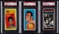 Basketball Cards:Lots, 1970 Topps Basketball PSA Graded Trio (3)....