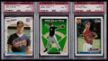 Baseball Cards:Lots, 1988-93 Fleer & Topps Baseball PSA Graded Trio (3)....