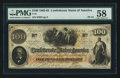 """Confederate Notes:1862 Issues, Two """"For Treasurer"""" Clauses T41 $100 1862 PF-24 Cr. 320C.. ..."""