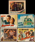"Movie Posters:Adventure, Adventure's End & Others Lot (Universal, 1937/Realart, R-1949).Title Lobby Card & Lobby Cards (4) (11"" X 14""). Adventure.. ...(Total: 5 Items)"