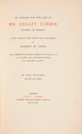 Books:World History, Colley Cibber. An Apology for the Life of Mr. Colley Cibber. London, 1889.... (Total: 2 Items)
