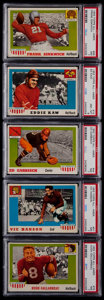 Football Cards:Lots, 1955 Topps All-American Football PSA Graded Group (5)....