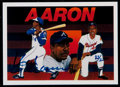 Baseball Cards:Singles (1970-Now), 1991 Upper Deck Baseball Heroes Hank Aaron Autograph Card #'d83/2500....