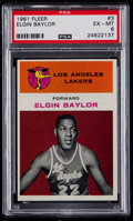 Basketball Cards:Singles (Pre-1970), 1961 Fleer Elgin Baylor #3 PSA EX-MT 6....