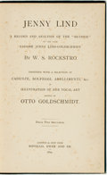 """Books:Biography & Memoir, W. S. Rockstro. Jenny Lind: A Record and Analysis of the""""Method"""" of the Late Madame Jenny Lind-Goldschmidt. Lon..."""