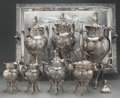 Silver Holloware, American:Tea Sets, An Eight Piece Meriden Britannia Co. Silver-Plated Tea and Coffee Service, Meridan, Connecticut, circa 1878. Marks to tray: ... (Total: 8 Items)