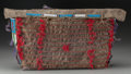 American Indian Art:Beadwork and Quillwork, A Sioux Quilled and Beaded Hide Tipi Bag. c. 1890...