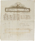 Transportation:Nautical, Civil War-era Schooner Crew Manifest....