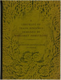Books:Books about Books, [Bookbinding, Book Arts]. Charles B. Gullans and John J. Espey, editors. A Checklist of Trade Bindings Designed by Marga...