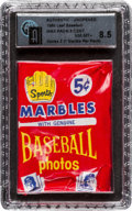 Baseball Cards:Unopened Packs/Display Boxes, 1960 Leaf Baseball 2nd Series 5-cent Wax Pack GAI NM-MT+ 8.5. ...