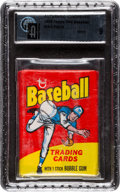 Baseball Cards:Unopened Packs/Display Boxes, 1975 Topps Mini Unopened Wax Pack GAI Mint 9. ...