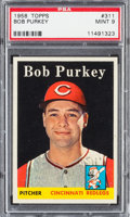 Baseball Cards:Singles (1950-1959), 1958 Topps Bob Purkey #311 PSA Mint 9 - Pop Three, None Higher! ...
