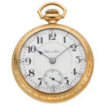Timepieces:Pocket (post 1900), Hamilton 21 Jewel 18 Size Open Face Pocket Watch. ...
