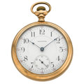 Timepieces:Pocket (post 1900), Waltham 19 Jewel With Rare Locomotive Movement Pocket Watch. ...