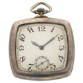 Timepieces:Pocket (post 1900), Swiss Sterling Silver Open Face Pocket Watch. ...