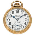 Timepieces:Pocket (post 1900), Illinois 21 Jewel 161A Elinvar 60-Hour Bunn Special Pocket Watch....