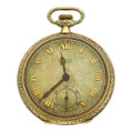 Timepieces:Pocket (post 1900), Gruen Veri-Thin 14k Two-Tone Gold Open Face Pocket Watch. ...