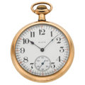 Timepieces:Pocket (post 1900), Elgin 21 Jewel Veritas Open Face Pocket Watch. ...