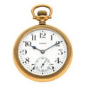 Timepieces:Pocket (post 1900), Howard 21 Jewel Series 11 Open Face Pocket Watch. ...