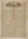Books:Periodicals, [Abolitionist Newspaper]. Single Issue of The Liberator. Vol. XXXIV, No. 11, Whole No. 1727. March 11, 1864. ...