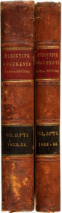 Books:Americana & American History, Lieut. J. M. Gilliss. The U.S. Naval Astronomical Expedition tothe Southern Hemisphere... Washington: A. O. P. ... (Total: 2Items)